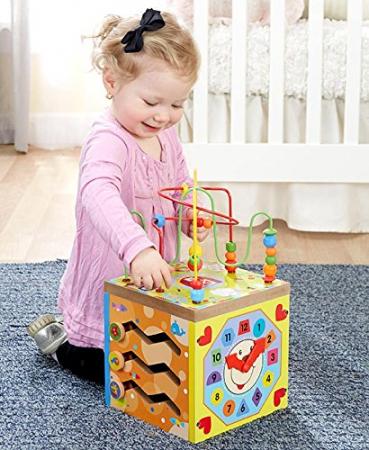 Cub educativ multifunctional 5 in 1 Ferma, Toyska [1]