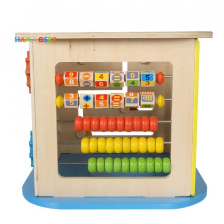 Cub educativ din lemn 6 in 1, Toyska [1]