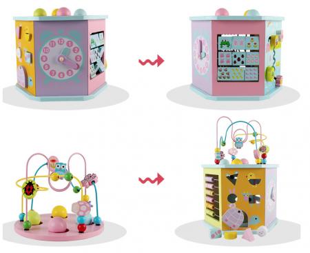 Cub educativ multifunctional 8 in 1 Hexagonal, Toyska [3]