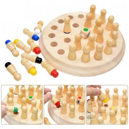 Joc memorie din lemn Memory Chess, Toyska [0]