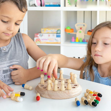 Joc memorie din lemn Memory Chess, Toyska [3]