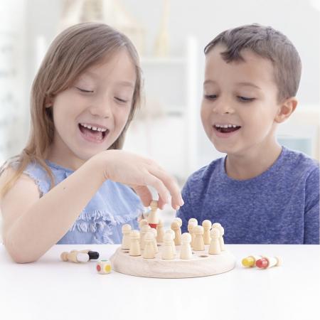 Joc memorie din lemn Memory Chess, Toyska [4]