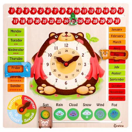 Joc Lemn Calendar Mare Onshine Bear, Toyska [0]