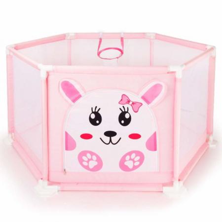 Tarc de joaca pentru bebelusi, 50 bile, 125x55 cm, Roz [1]
