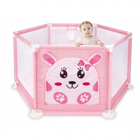 Tarc de joaca pentru bebelusi, 146x66, 50 bile, Roz, Toyska [3]