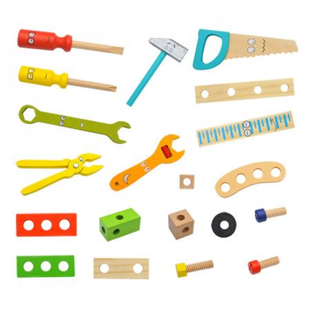 Trusa de scule din lemn Montessori, 20 piese [1]