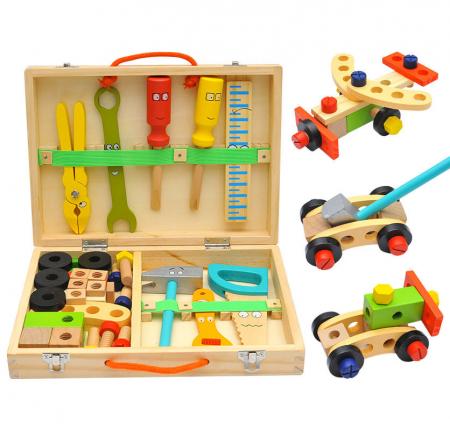 Trusa de scule din lemn Montessori, 20 piese [0]