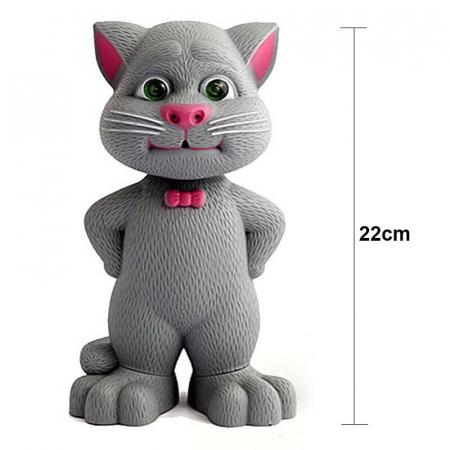 Jucarie Talking Tom, motanul inteligent vorbitor, 22 cm, Toyska [3]