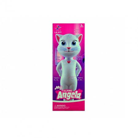 Jucarie Talking Angela, pisica inteligenta vorbitoare, 28 cm, Toyska [2]