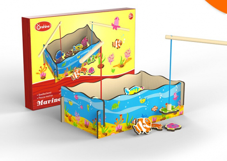 Joc lemn Pescuit Magnetic Marine, Toyska [3]