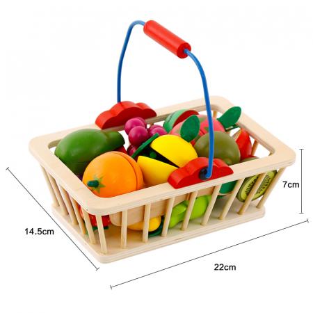 Jucarie lemn Cosuletul cu Fructe de feliat, Toyska [2]
