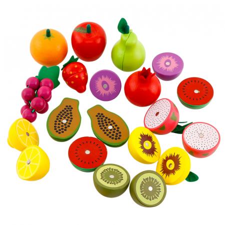 Jucarie lemn Cosuletul cu Fructe de feliat, Toyska [3]