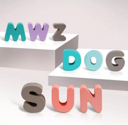 Puzzle lemn Alfabet 3D, litere mari, Toyska [1]