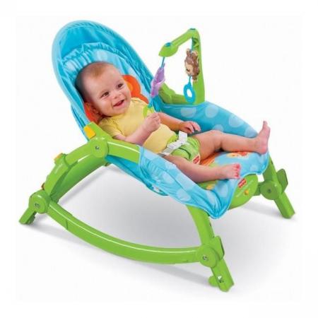 Balansoar portabil 2 in 1 Newborn to Toddler, vibratii, Toyska [0]