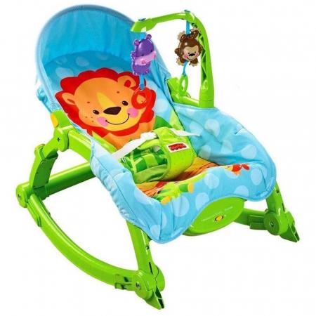 Balansoar portabil 2 in 1 Newborn to Toddler, vibratii, Toyska [1]