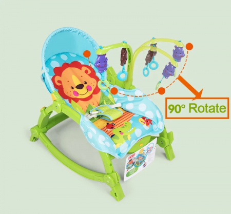 Balansoar portabil 2 in 1 Newborn to Toddler, vibratii, Toyska [4]