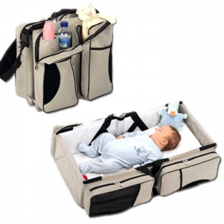 Geanta multifunctionala 3 in 1 Baby Travel, Beige, Toyska [2]