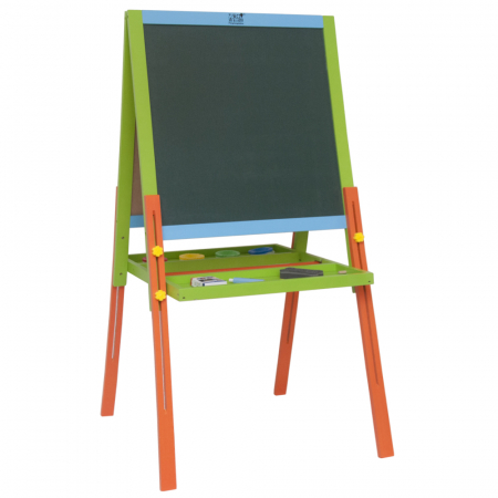 Tabla educativa reglabila din lemn, 3 in 1 sevalet, 130x57 cm [0]