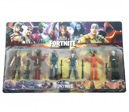 Set 6 figurine tip Fortnite, accesorii, sezonul 9 [0]