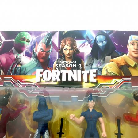 Set 6 figurine tip Fortnite, accesorii, sezonul 9 [1]