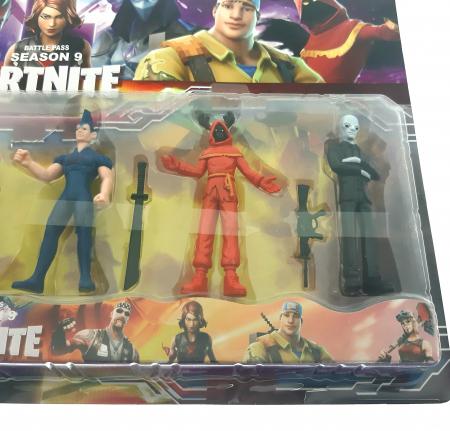 Set 6 figurine tip Fortnite, accesorii, sezonul 9 [2]