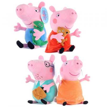 Set 4 jucarii de plus Peppa Pig , 25 cm [0]