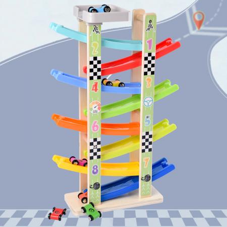 Jucarie lemn Circuit cu 8 Piste [3]