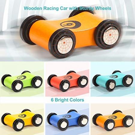 Jucarie lemn Circuit cu 6 Piste Mega Ramp Racer [2]