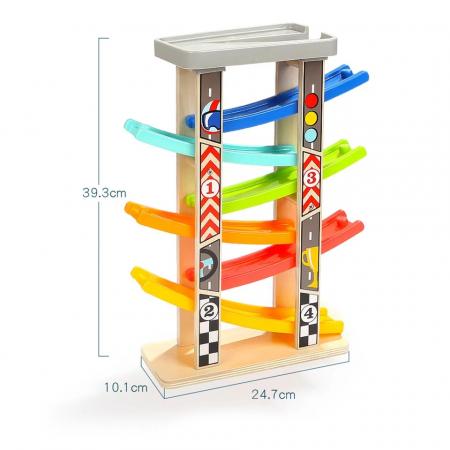 Jucarie lemn Circuit cu 6 Piste Mega Ramp Racer [3]