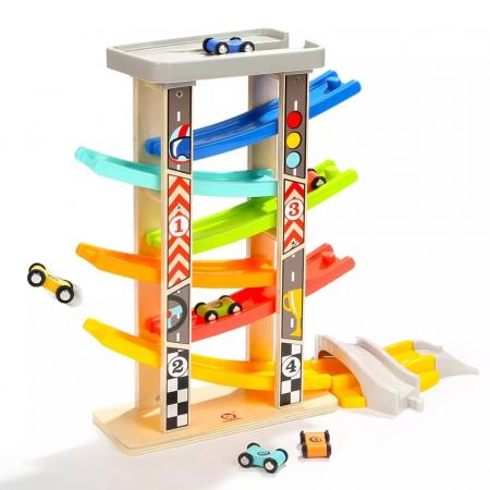 Jucarie lemn Circuit cu 6 Piste Mega Ramp Racer [1]