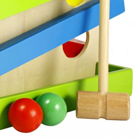 Jucarie lemn Pista cu bile Four Play Station [1]