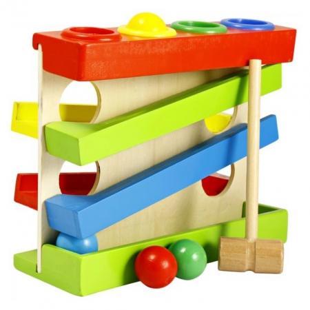 Jucarie lemn Pista cu bile Four Play Station [0]