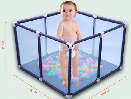 Tarc de joaca pentru bebelusi, 50 bile, 100x100x65 cm [3]