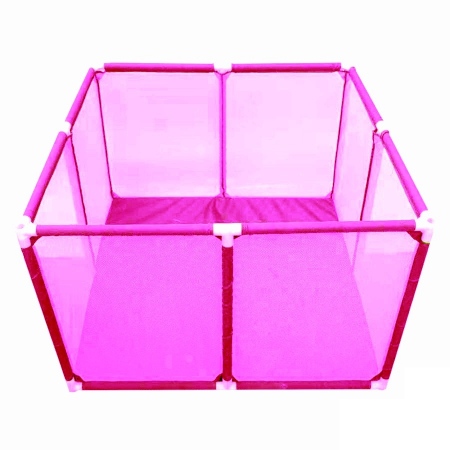 Tarc de joaca pentru bebelusi, 50 bile, 100x100x65 cm, roz [1]