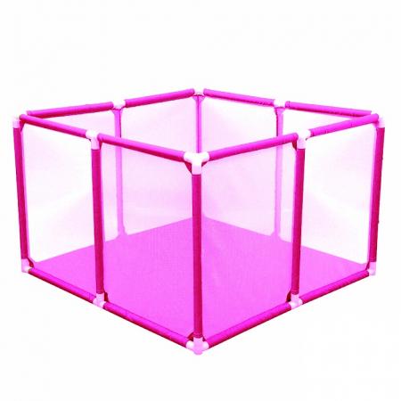 Tarc de joaca pentru bebelusi, 50 bile, 100x100x65 cm, roz [2]