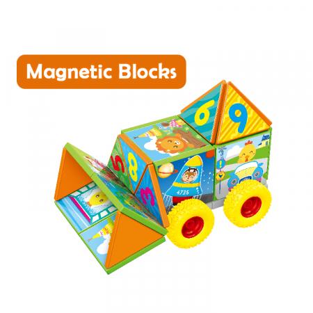 Joc constructiI magnetice si puzzle Magnetic Cubes, 40 piese, multicolor [1]