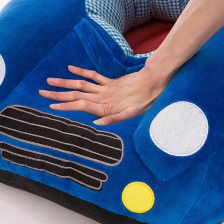 Fotoliu din plus bebe Masinuta, albastru [3]