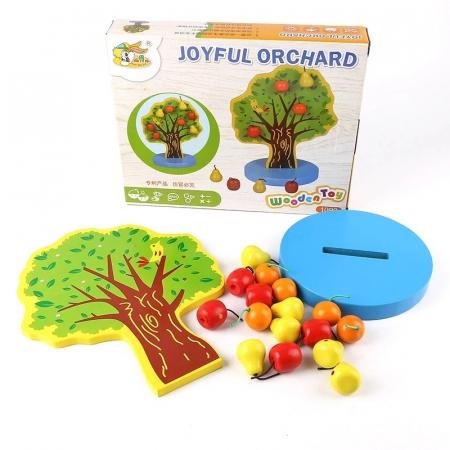 Joc Montessori de indemanare Copacul cu fructe magnetice, multicolor [3]
