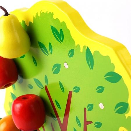 Joc Montessori de indemanare Copacul cu fructe magnetice, multicolor [2]