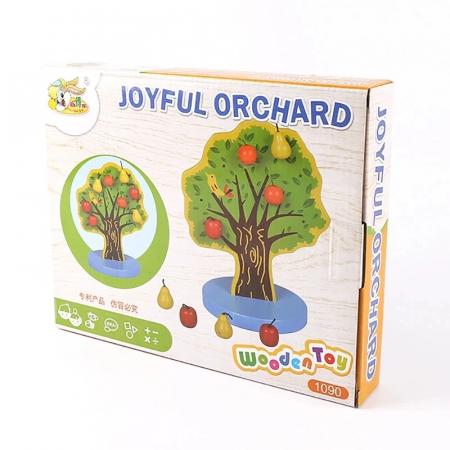 Joc Montessori de indemanare Copacul cu fructe magnetice, multicolor [1]