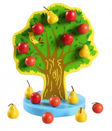 Joc Montessori de indemanare Copacul cu fructe magnetice, multicolor [0]