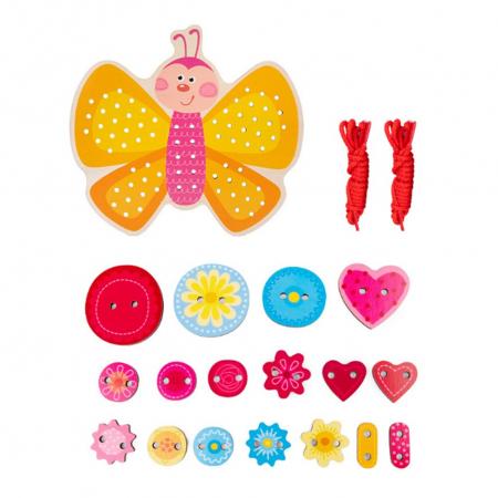 Joc Montessori Fluturas de snuruit si insirat, 40 piese [1]