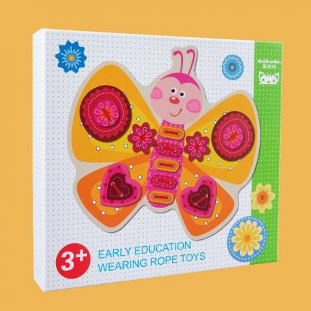 Joc Montessori Fluturas de snuruit si insirat, 40 piese [2]