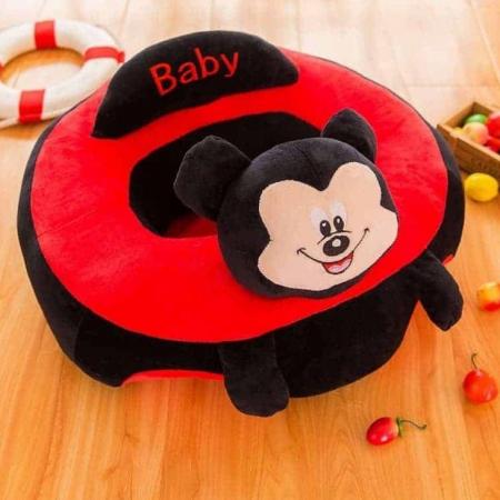 Fotoliu din plus pentru bebelusi Mickey Mouse, negru/rosu [0]