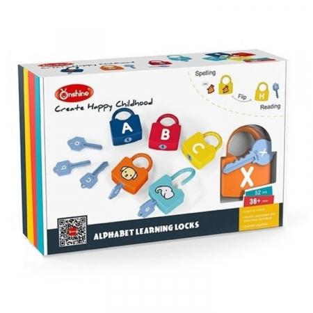 Joc Montessori Alfabetul cu Incuietori, 52 piese [0]