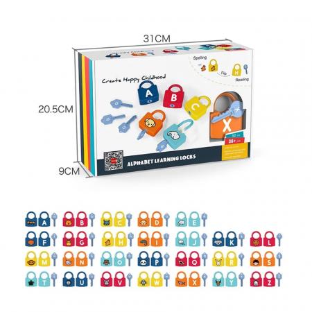 Joc Montessori Alfabetul cu Incuietori, 52 piese [1]