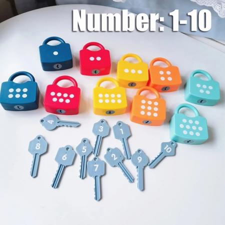 Joc Montessori Cifre cu Incuietori, 20 piese [1]