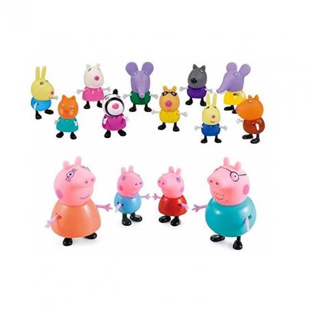 Set 14 figurine Peppa Pig, multicolor [2]