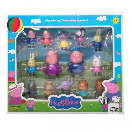 Set 14 figurine Peppa Pig, multicolor [0]