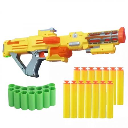 Pusca  Soft Bullet Gun cu gloante din spuma, galben [2]